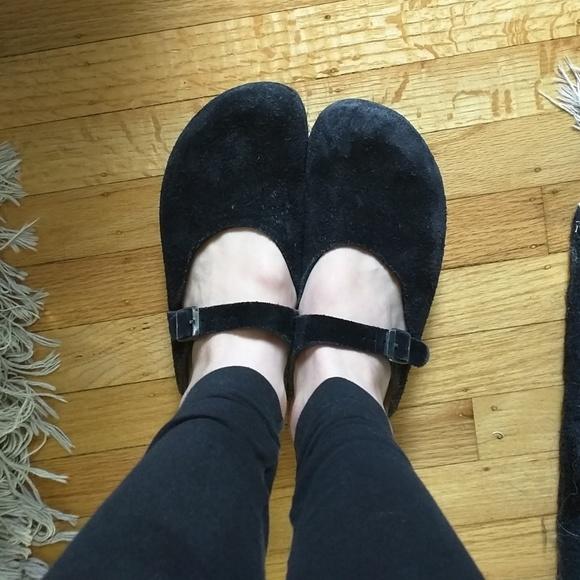 17ba1525140a Birkenstock Shoes - Black mary jane suede Birkenstocks clogs rosemead